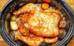 Here's How You Slow Cook An Entire Chicken