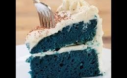 Rice Cooker Blue Velvet Cake