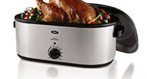 Oster CKSTRS23-SB 22-Quart Roaster Oven with Self-Basting Lid, Stainless Steel Finish