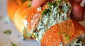 Spinach Artichoke Dip Stuffed Garlic Bread